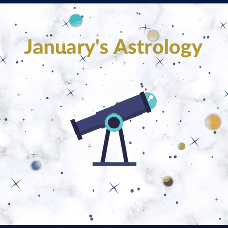 January's Astrology Events by NUiT App