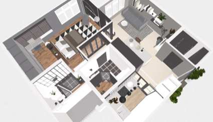 3D floor plans & home staging solution – roomle