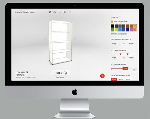 Roomle Live 3D Configurator