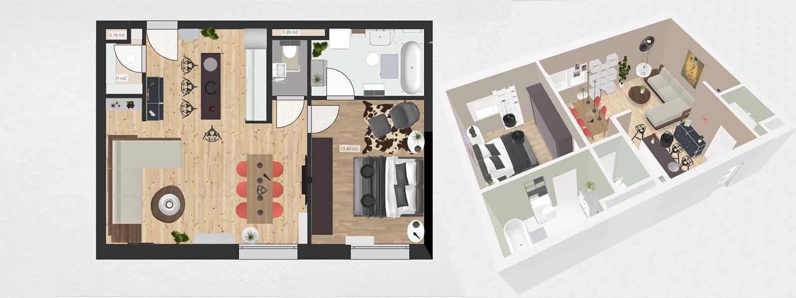 roomle - Teste 3D Demo-Raumpläne von Wohnungen & Häusern