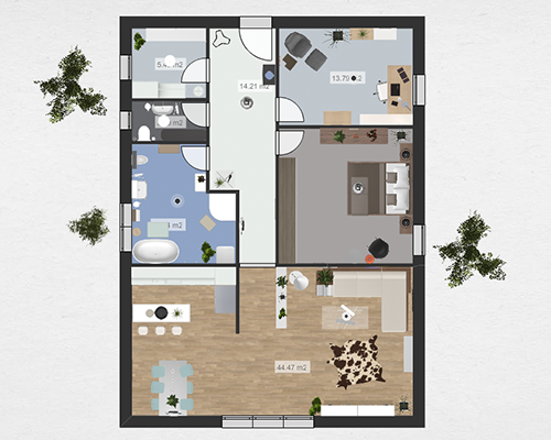 Roomle House Design 3D Floor Plan