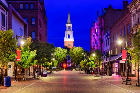 Best College Town Burlington Vermont