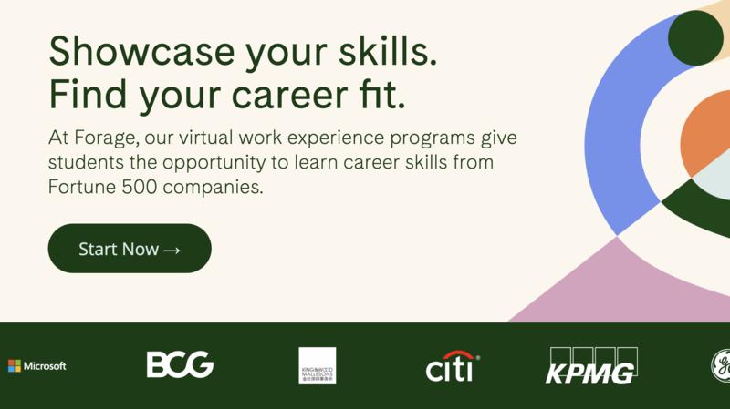 forage virtual internships for high school students