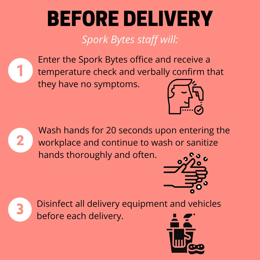 Spork Bytes Staff Delivery Prep