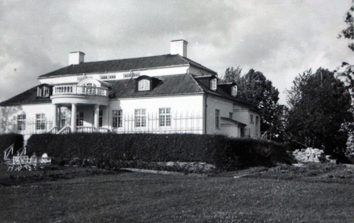 Liljeholmen 50-tal i herrgårdsbyggnaden