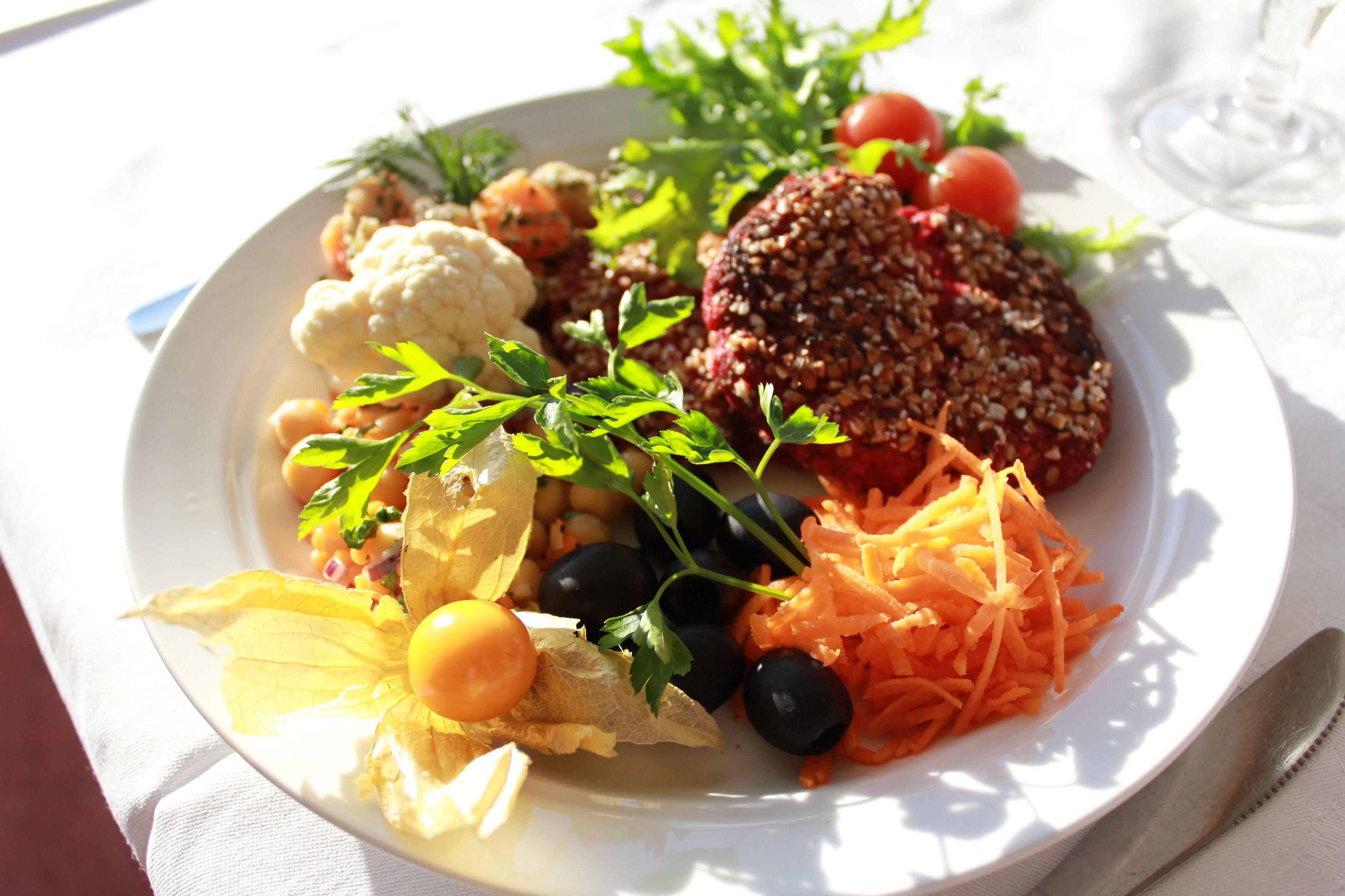 Tallrik med mat Liljeholmen Matsal