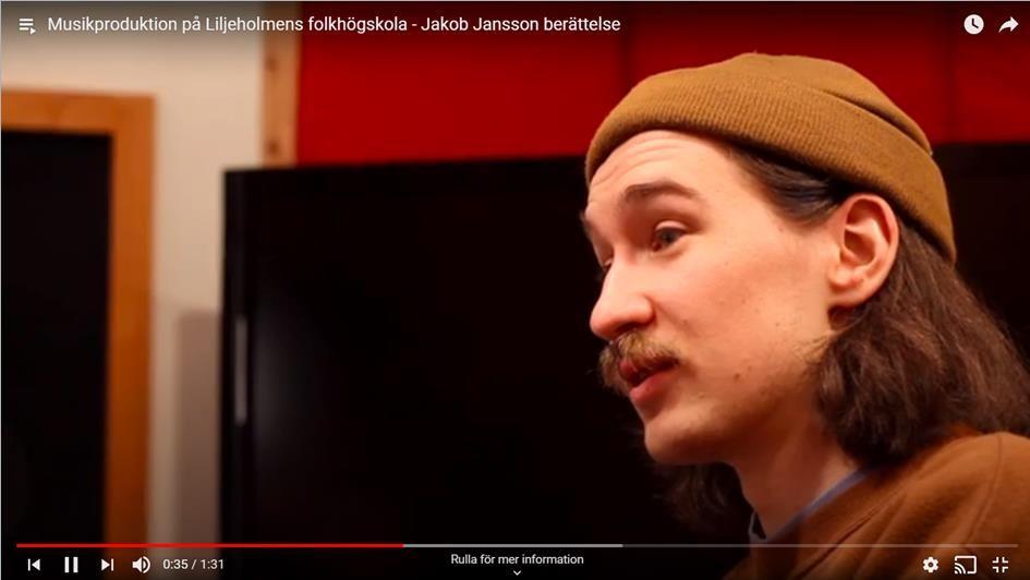 Jakob Jansson berättar om Musikproduktion på Liljeholmen