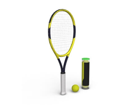 3D & AR Viewer tennis rocket