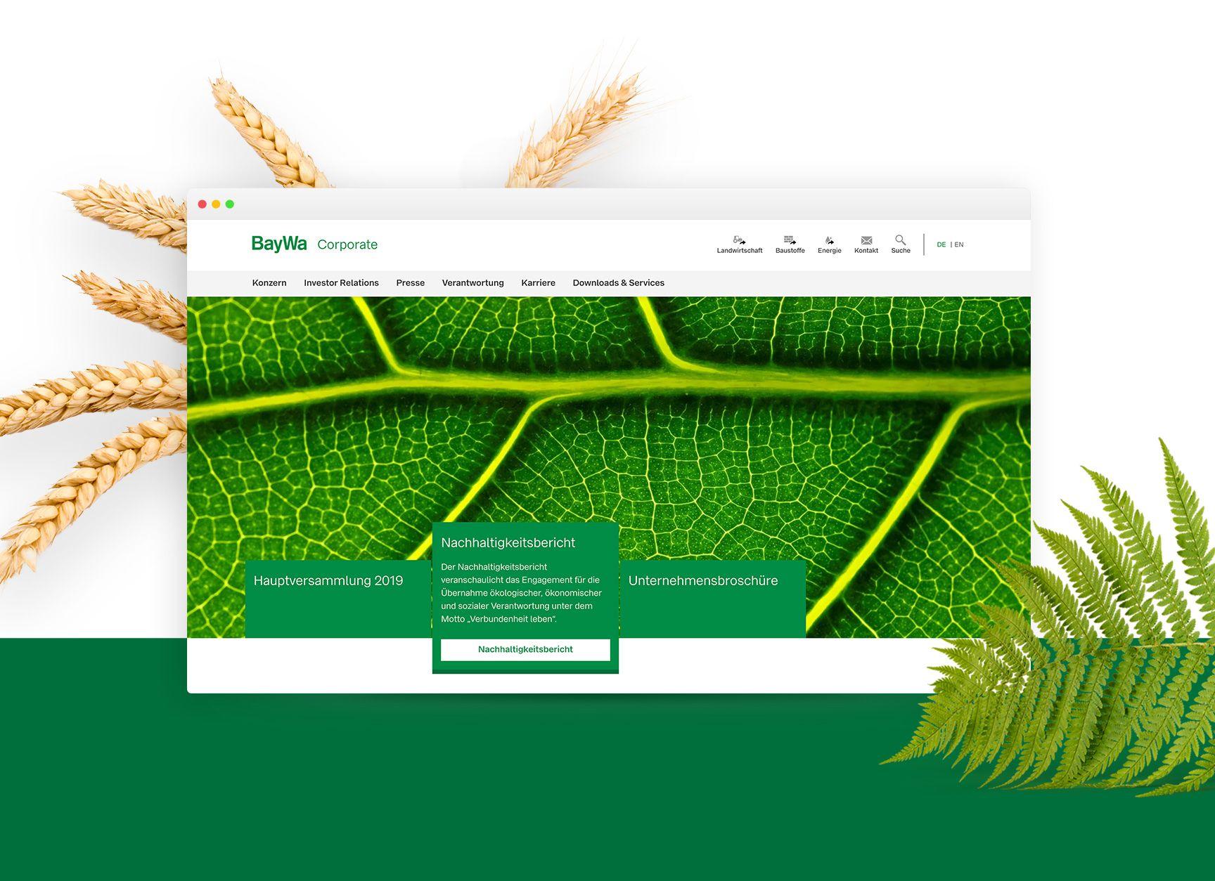 Erfolgreicher Relaunch: Neue Corporate Website für die BayWa AG kommt von diva-e