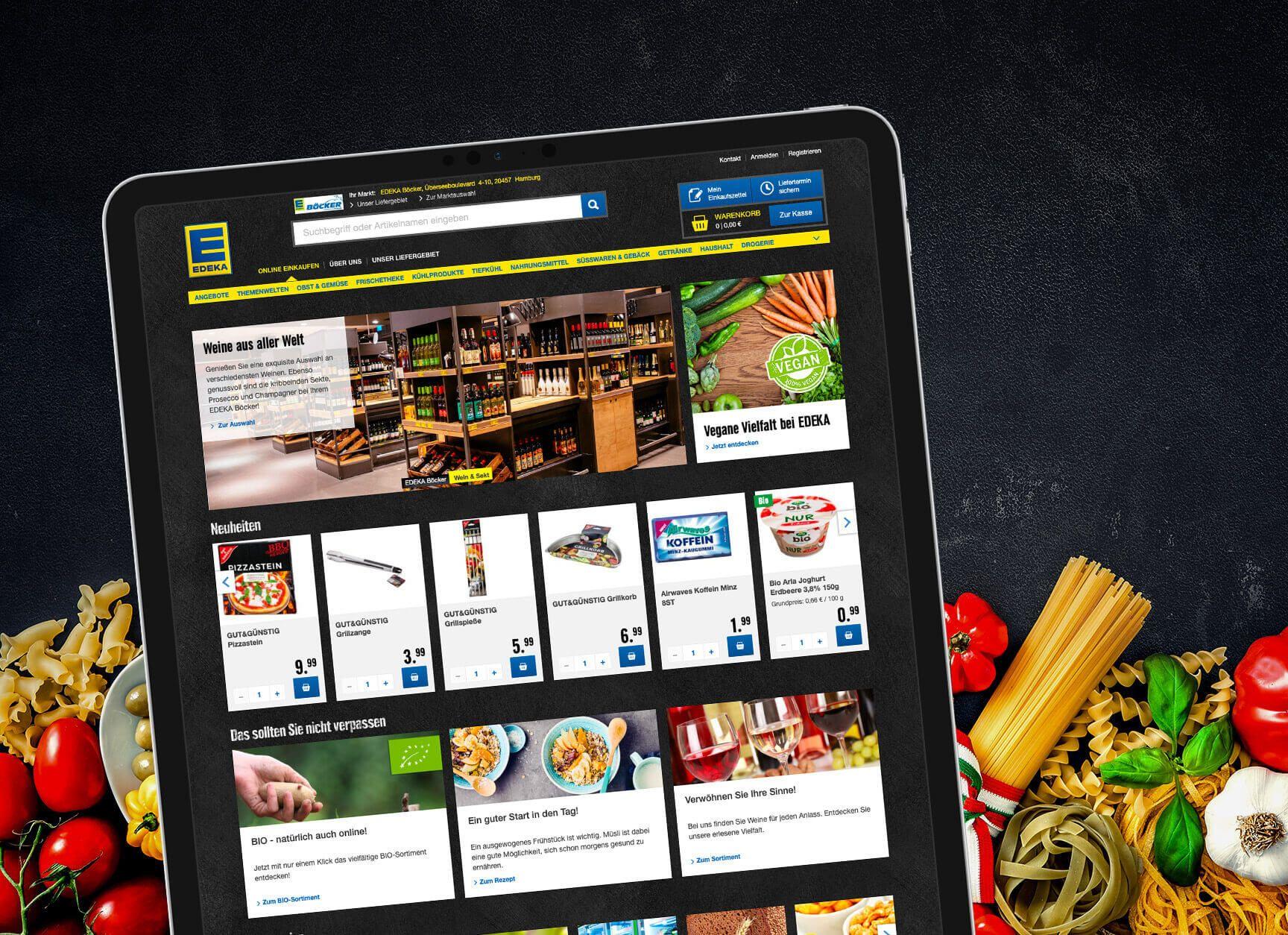 Lebensmittel bei EDEKA einfach online kaufen