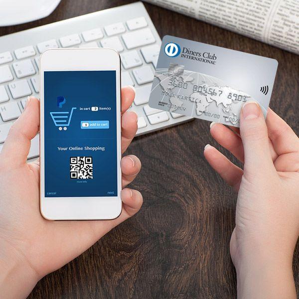 Ne pozabite na svojo kartico Diners Club, kadar plačujete na spletu