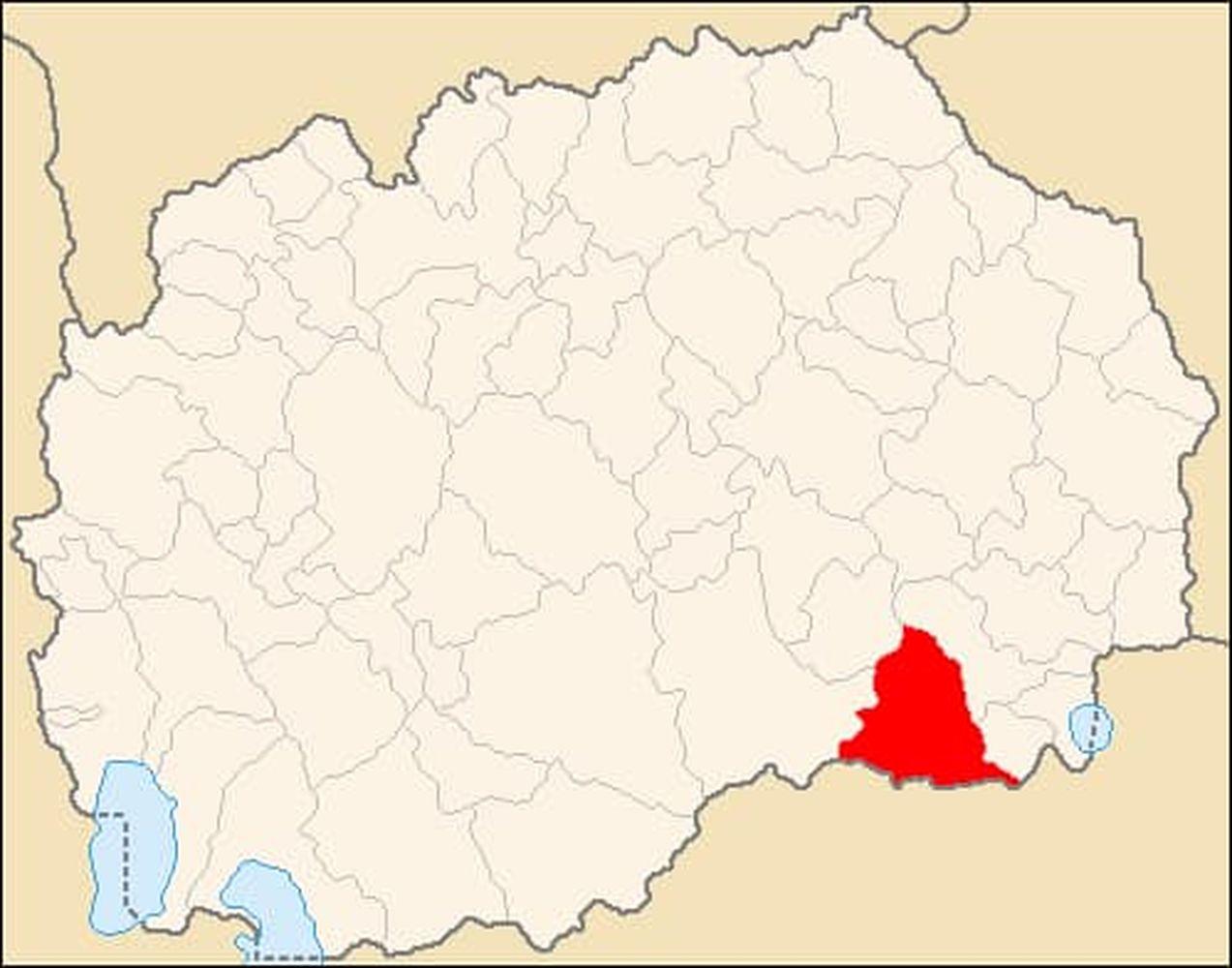 Географско положение на град Гевгели