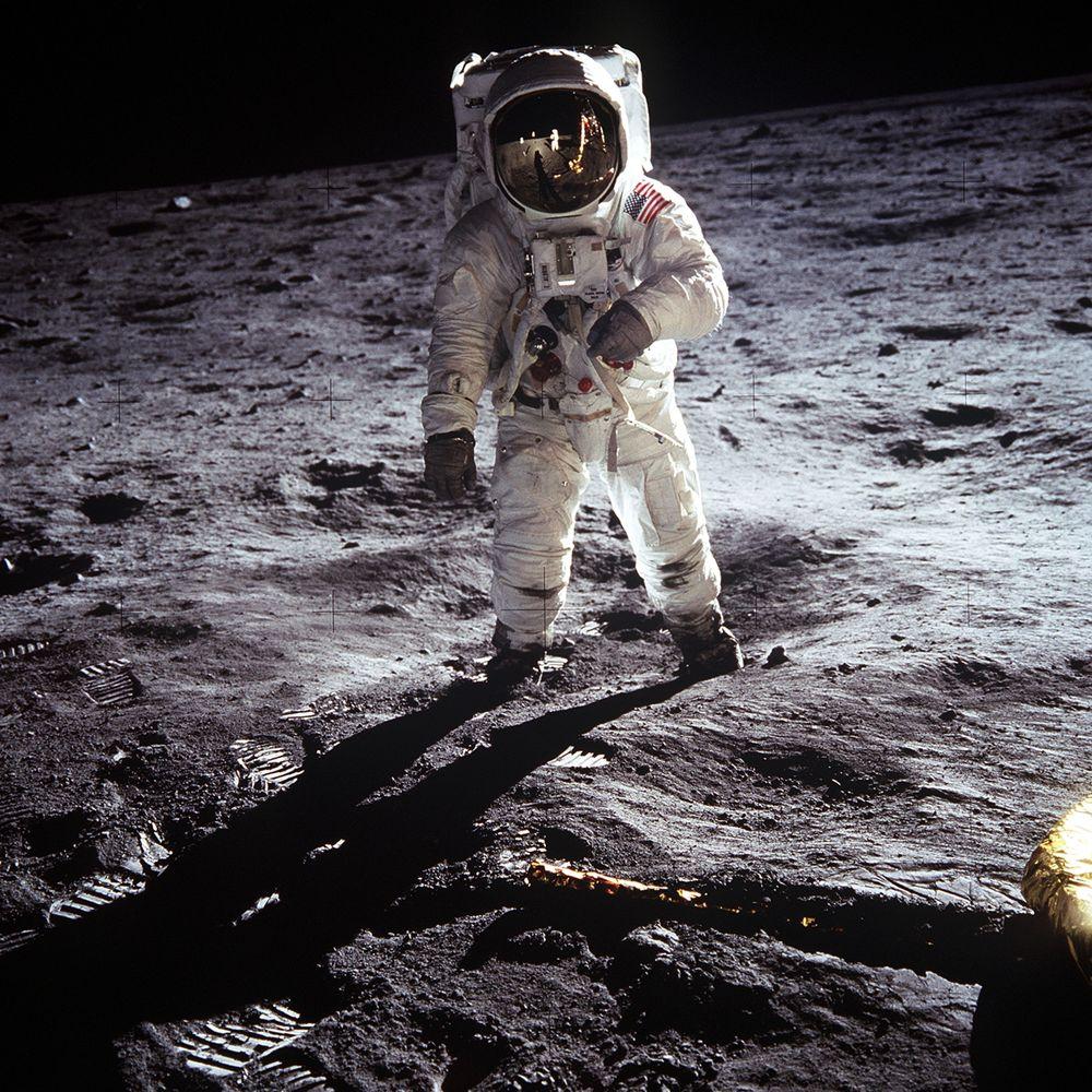Man walking in Space