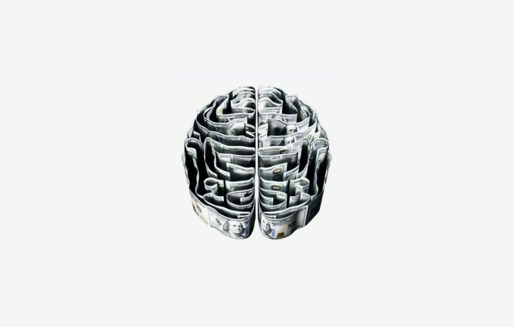 Image of money in the shape of a brain