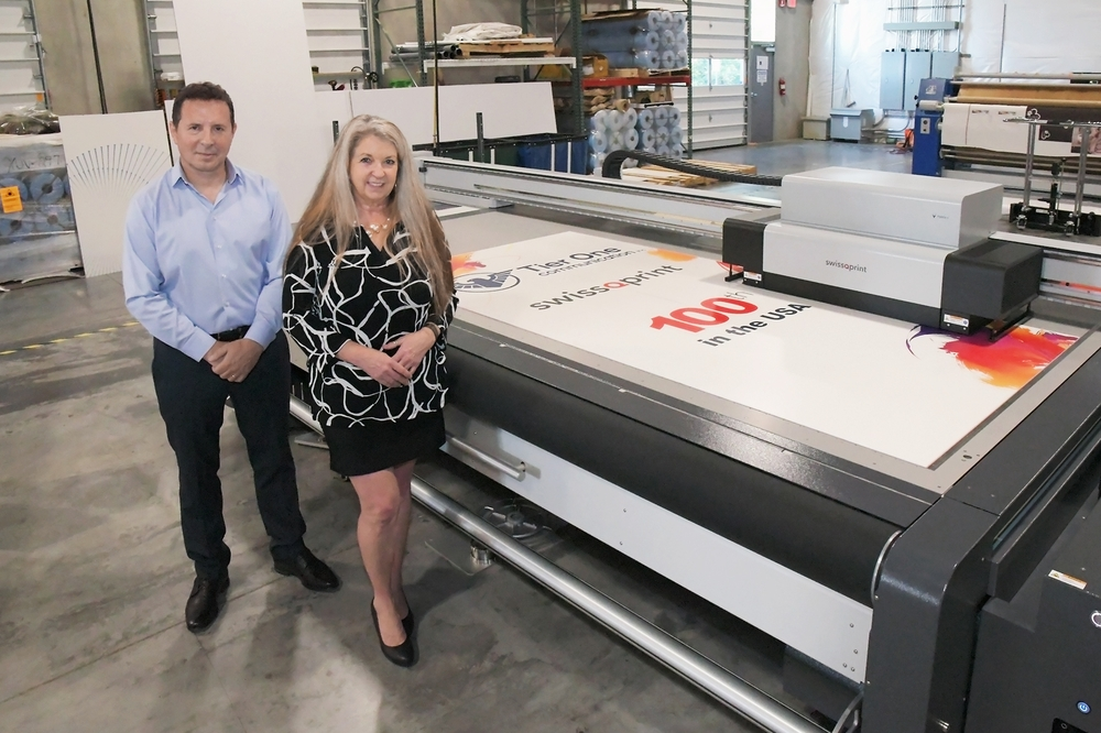 100th swissQprint machine in the US © swissQprint