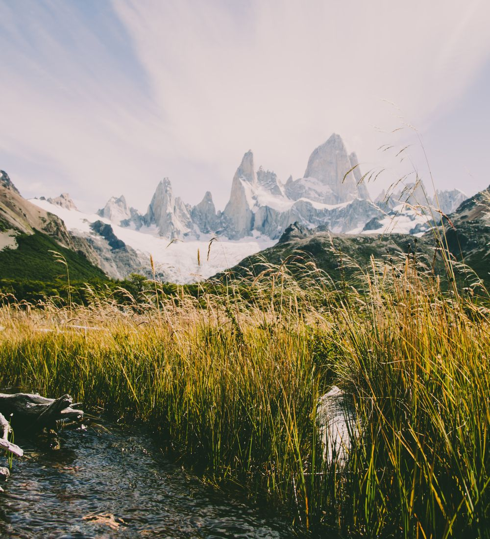 a view of mountains in los glaciares national park in argentina