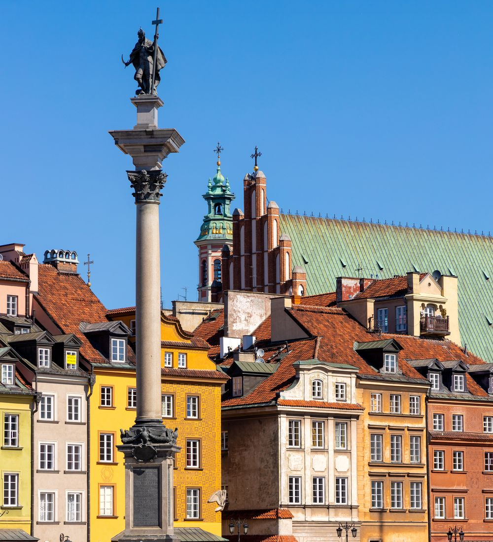 Sigismunds Column on the Castle Square in Warsaw Poland