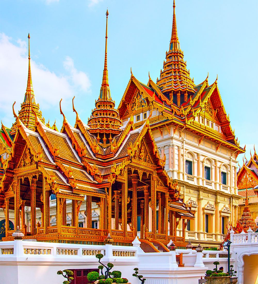 Phra Maha Prasat complex in The Royal Grand Palace Bangkok Thailand