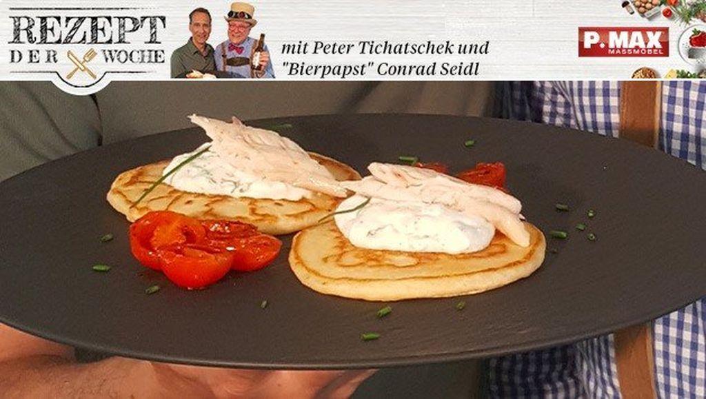 Pancakes mit Räucherforelle