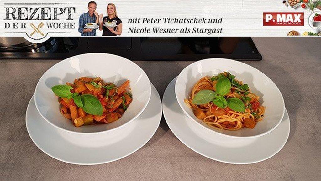 Spaghetti mit Melanzanisugo.