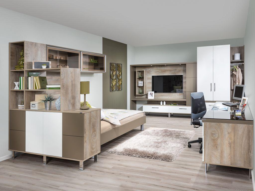 Jugendzimmer mit Raumteiler