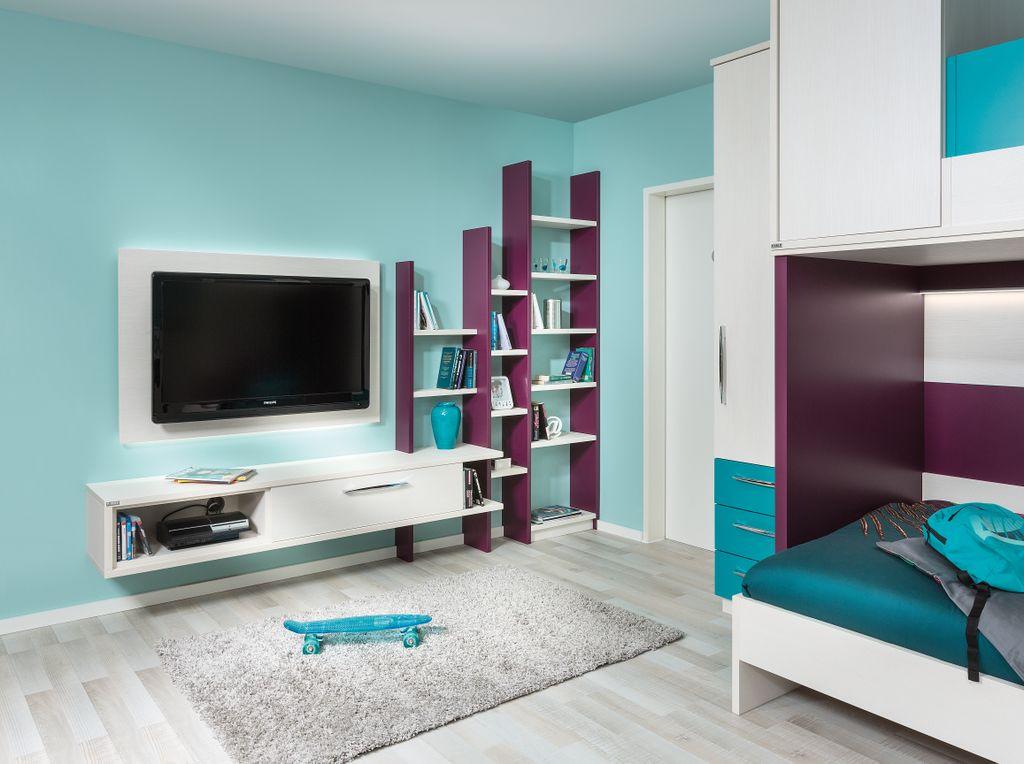 Jugendzimmer mit TV-Anrichte
