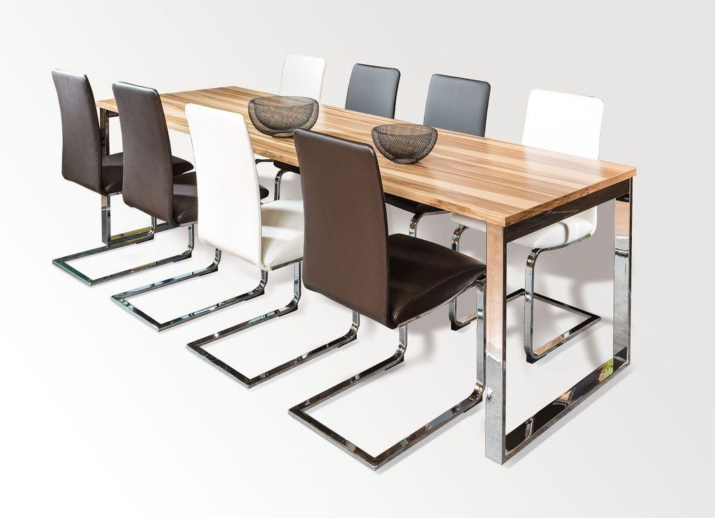 Tisch mit Chrom-Kufengestell