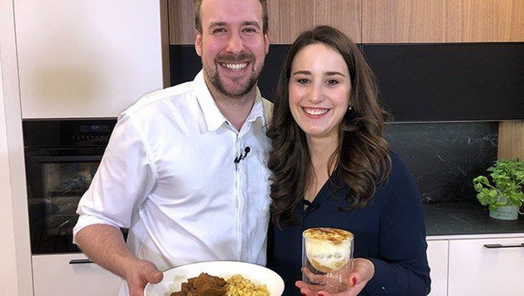 Kalbsrahmgulasch mit Spätzle und Crème Brûlée