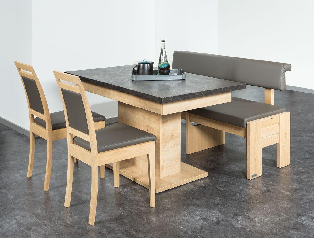 Sitz-Essgruppe mit ausziehbarem Tisch und einer ausziehbaren Bank