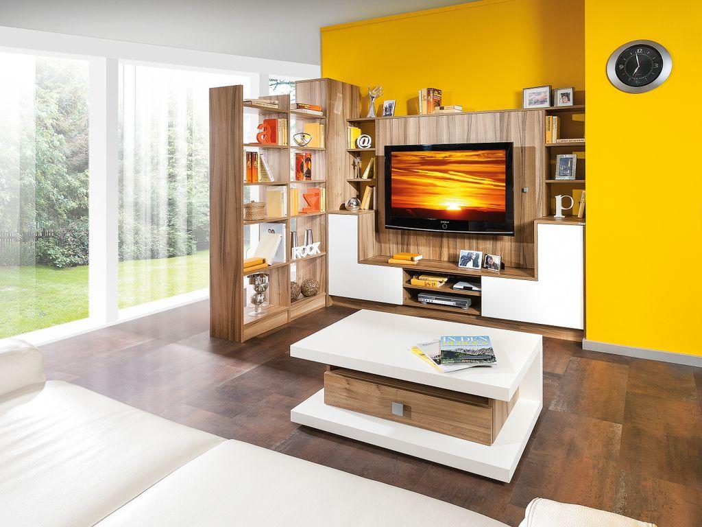 Wohnwand mit Raumteiler-Regal
