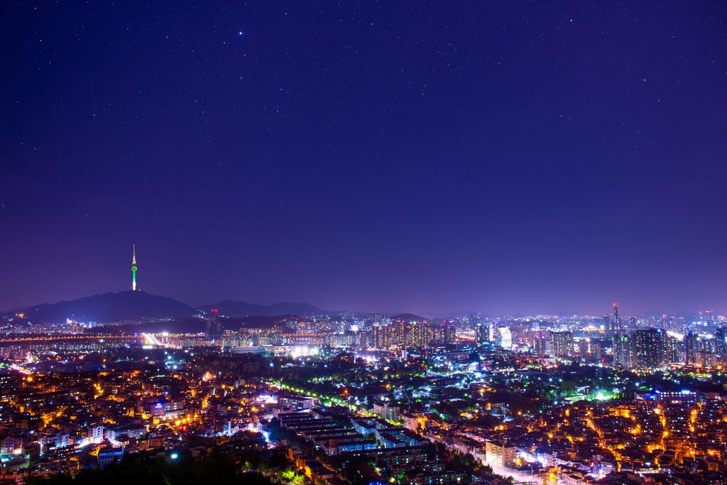 Downtown skyline of Seoul, South Korea