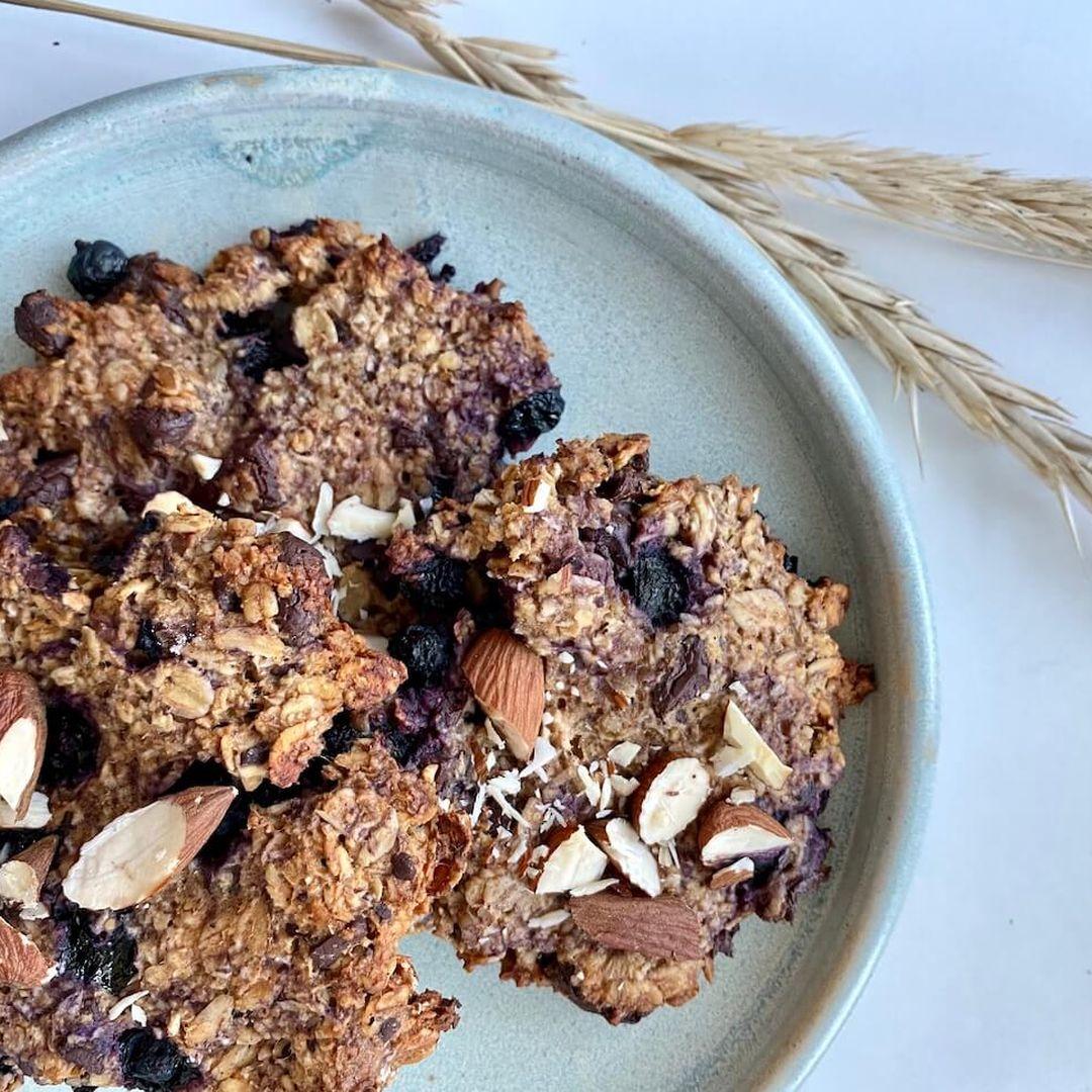 Cookies med blåbær og chokolade