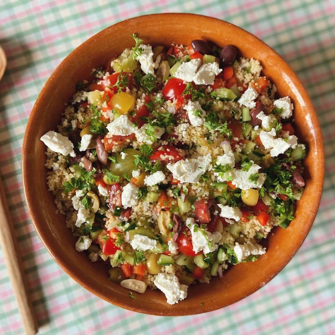 Israelsk couscous salat