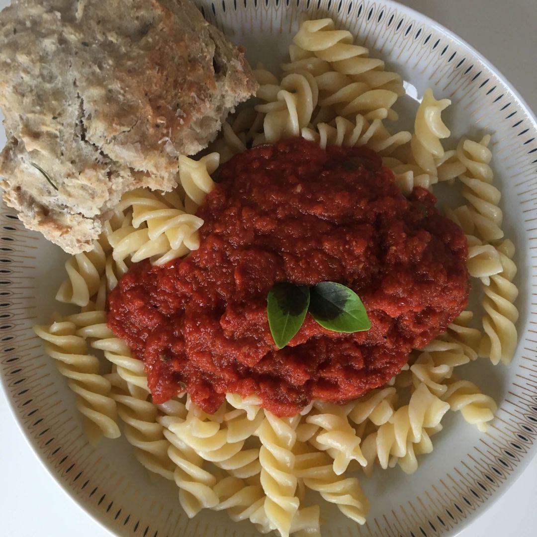 marinara sauce på pasta