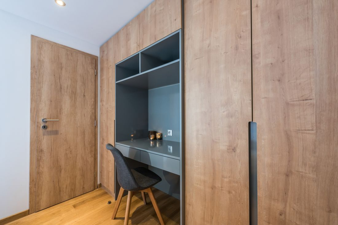 Desk space at Agba accommodation in Morzine