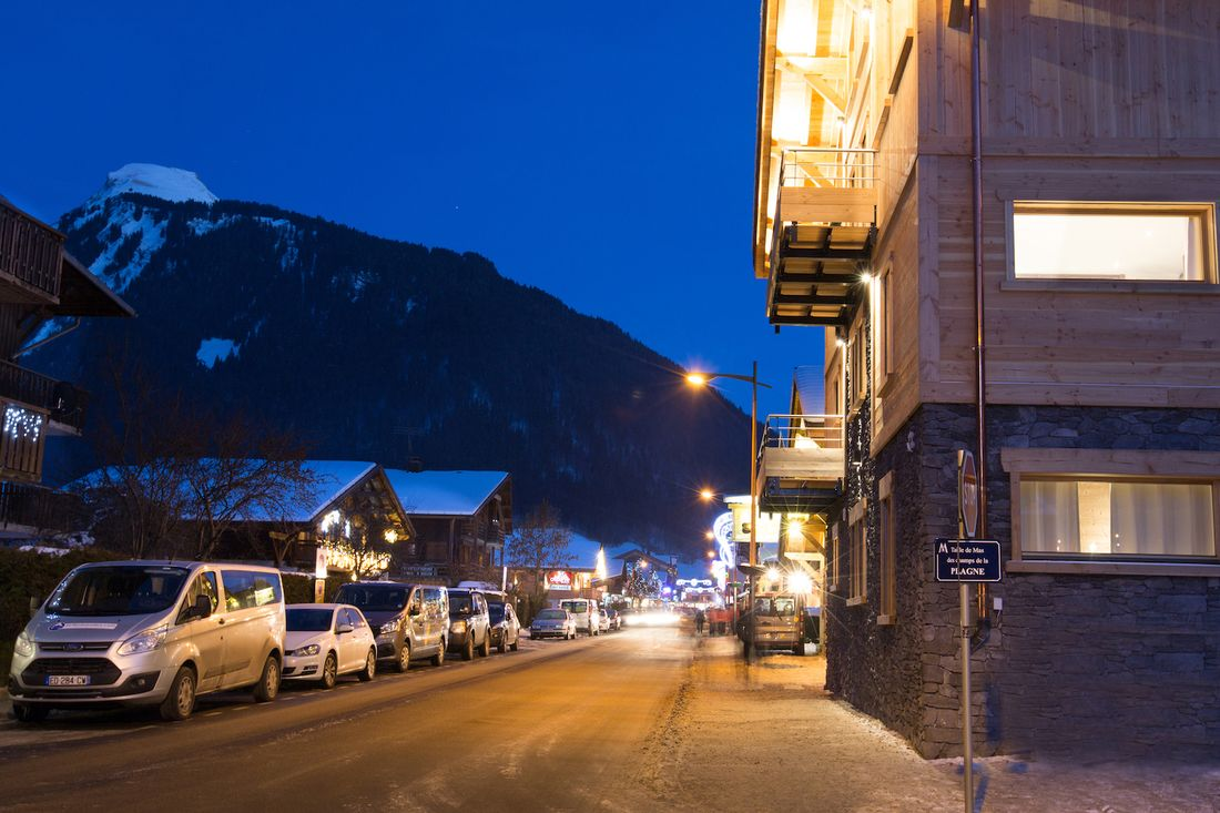 Outside view of Ourson accommodation in Morzine