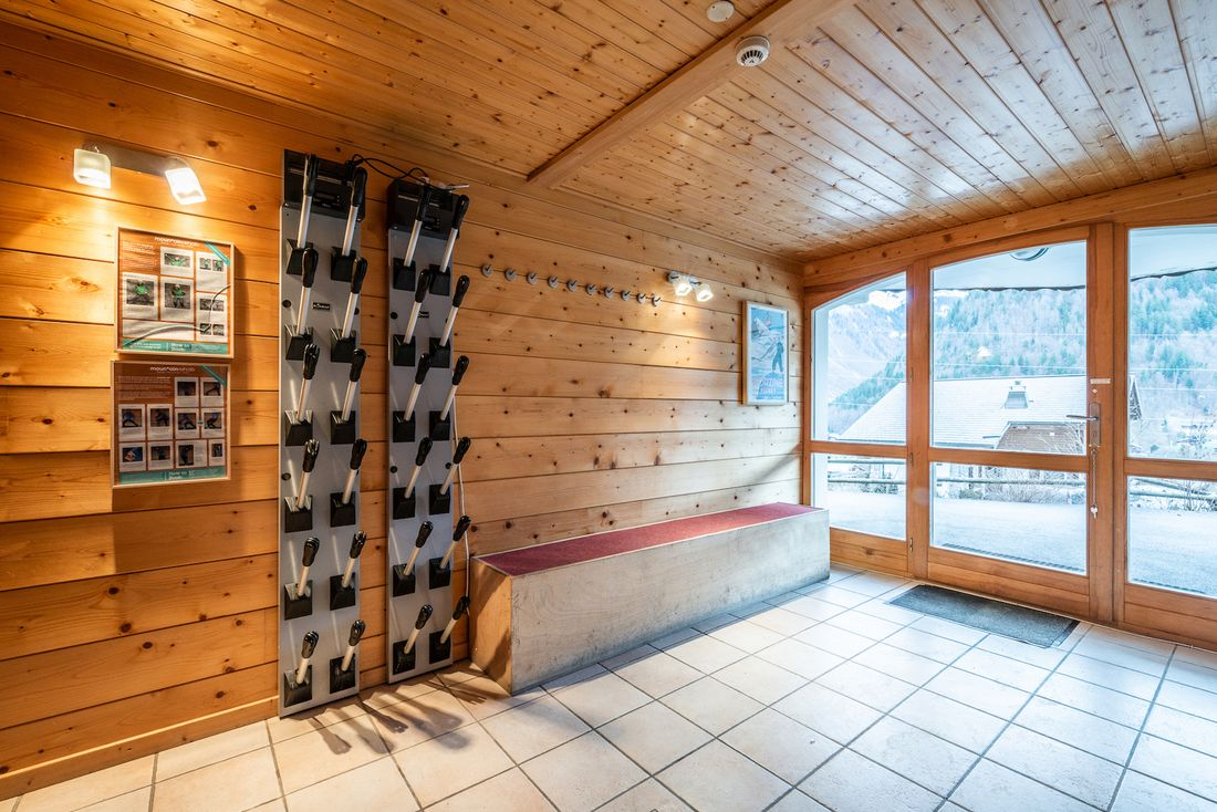 Private ski heater at Doux Abri chalet in Morzine