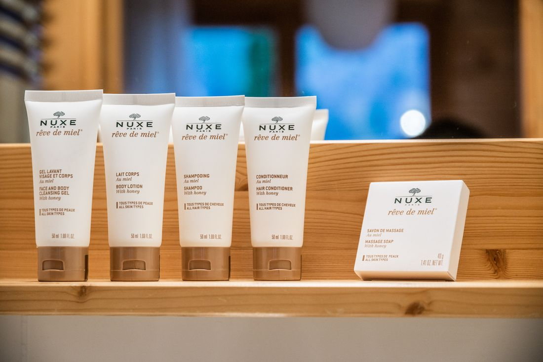 Free Nuxe toiletries at Doux Abri chalet in Morzine