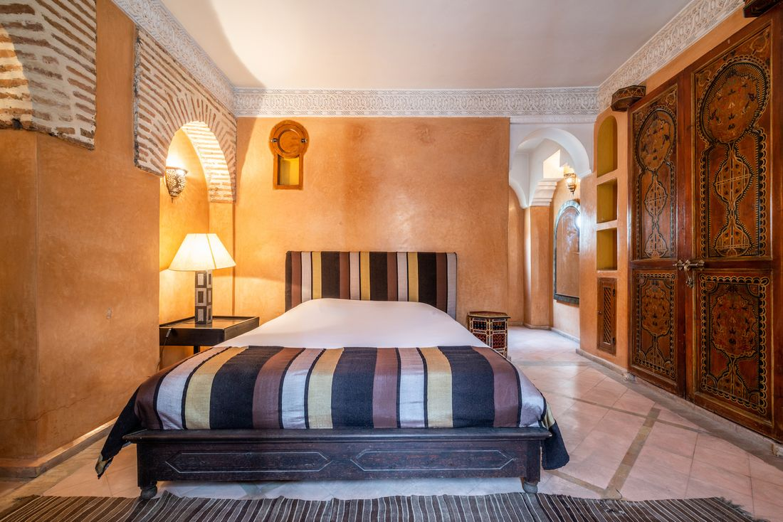 Double bedroom at Adilah riad in Marrakech