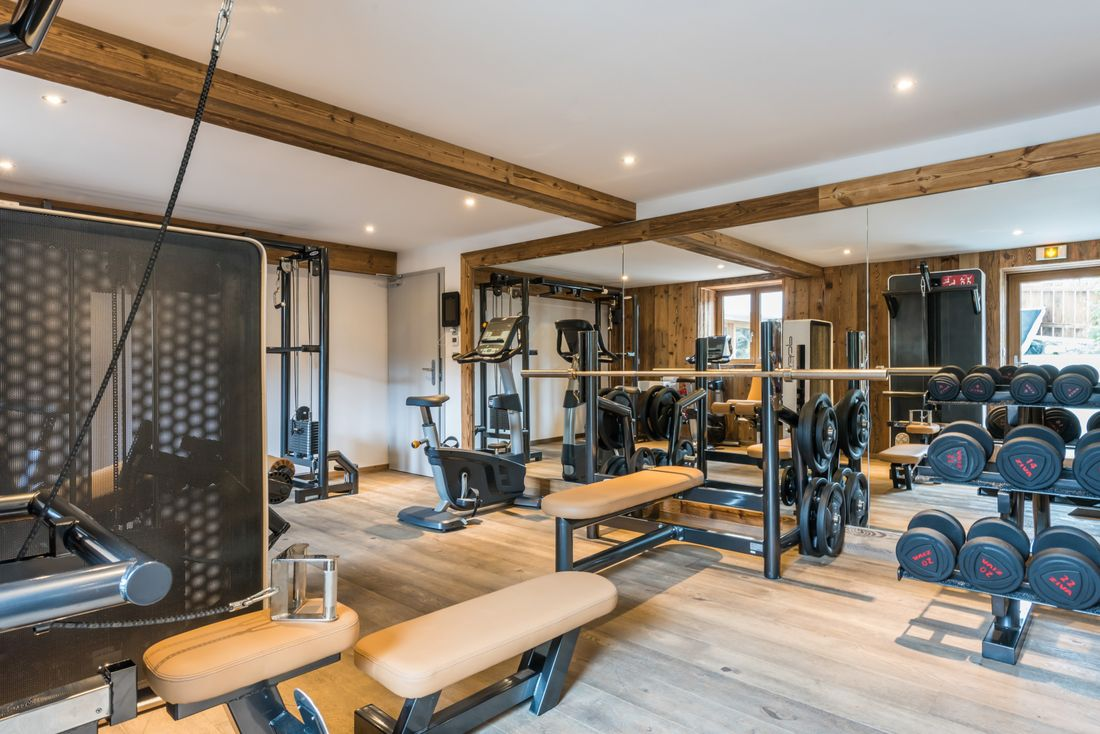 Private gym of Meranti accommodation in Morzine