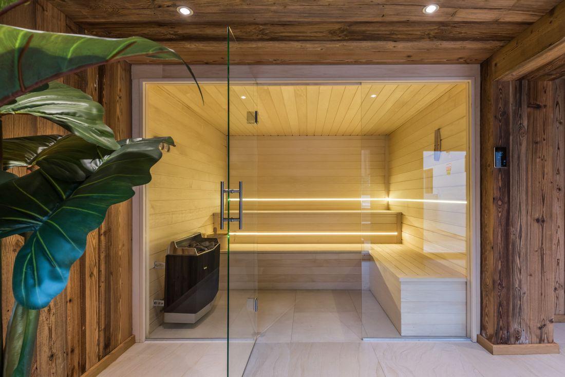 Sauna of Meranti accommodation in Morzine
