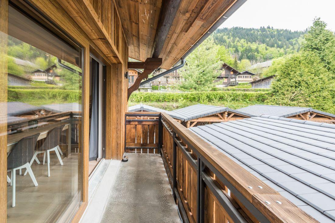 Terrace of Iroko accommodation in Morzine