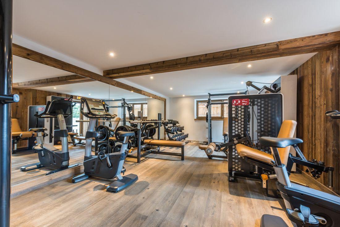 Gym area at Karri accommodation in Morzine
