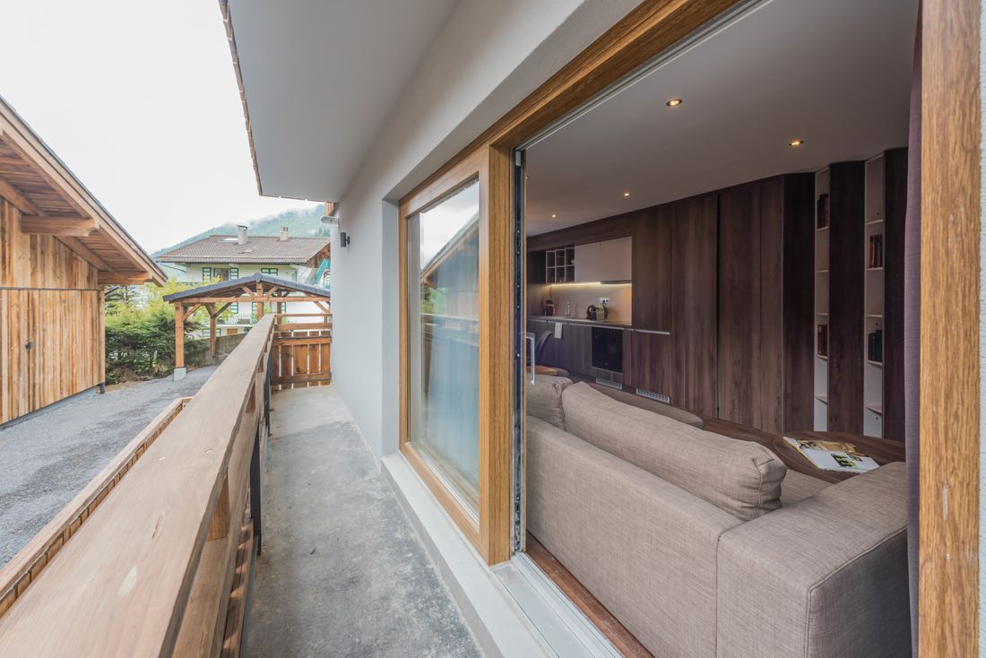 Terrace of Catalpa accommodation in Morzine