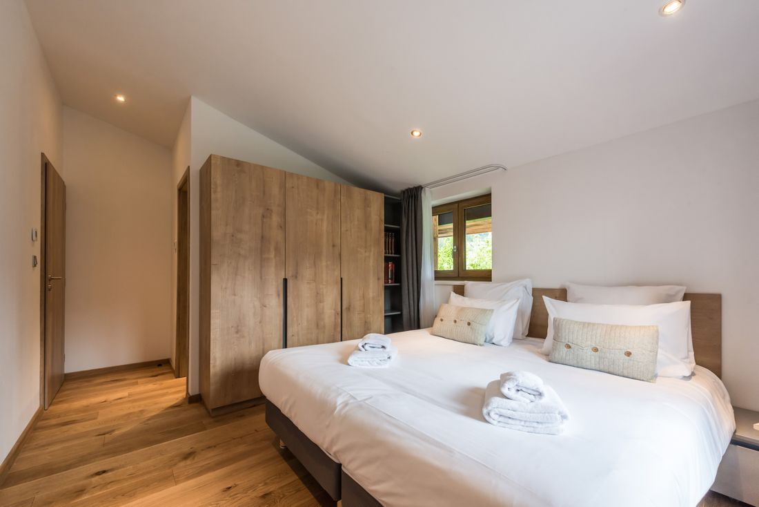 En-suite room at Agba accommodation in Morzine