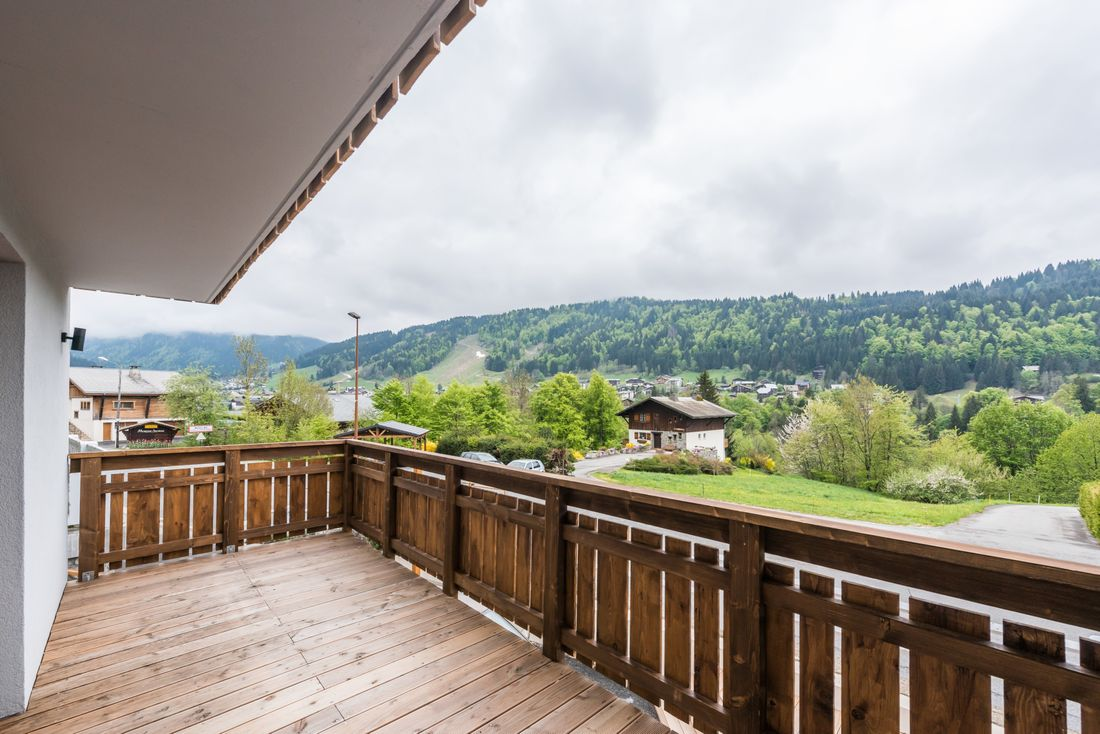 View over the Alps from Ayan accommodation in Morzine