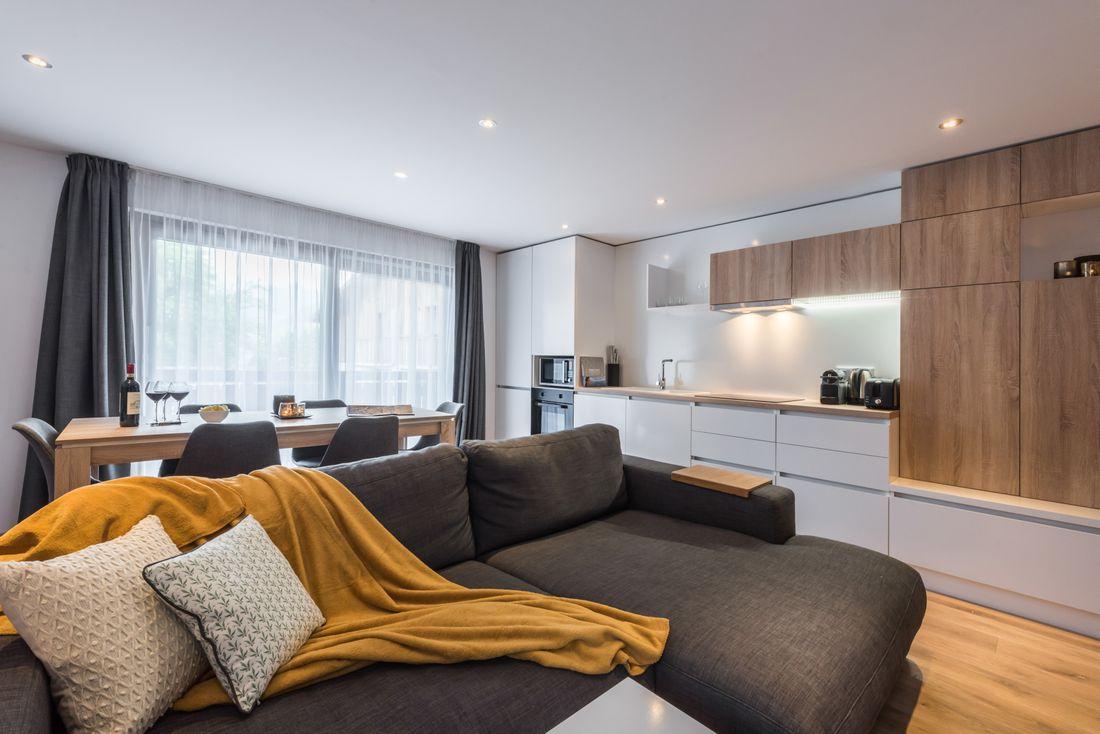 Living room of Iroko accommodation in Morzine