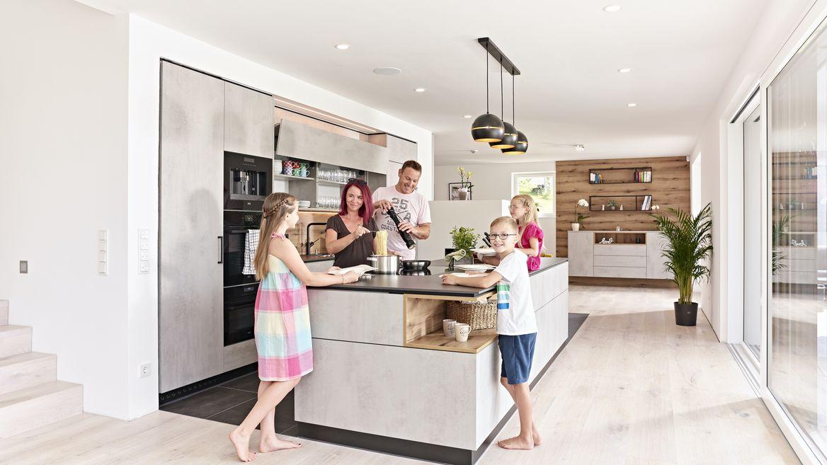 Wohnküche für die ganze Familie.