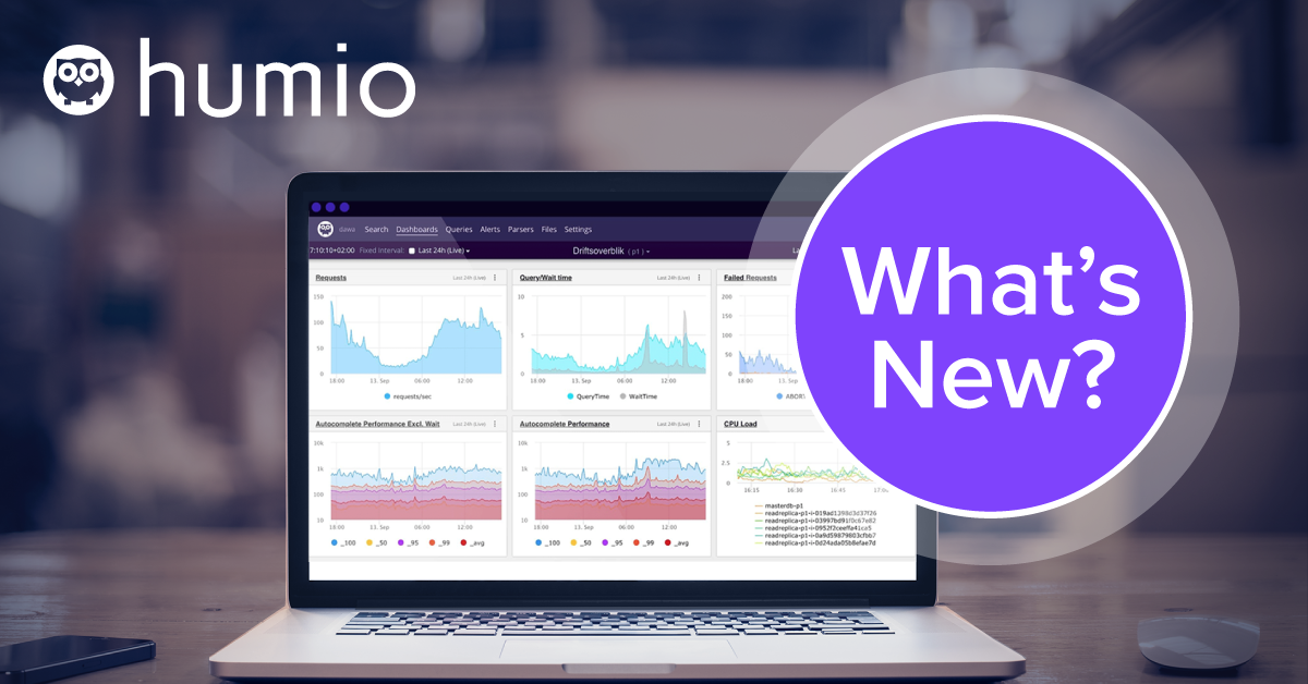 What's New in Humio (September 2020)