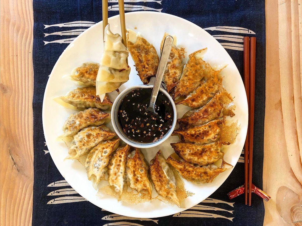 Dumplings med tofu og svampe